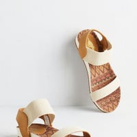 ModCloth Colorblocking Riverside by Side Sandal