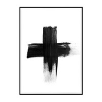 large black cross print