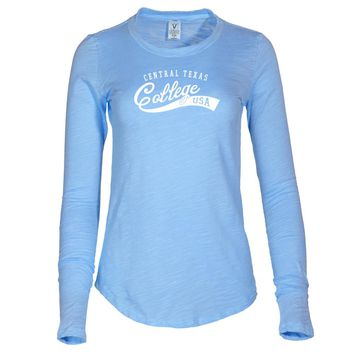 NCAA Central Texas College Eagles - C26SS05 Women's Long Sleeve Slub Tee Shirt