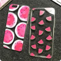 Newest Hot Sale fashion Cute Cartoon Watermelon Image Logo Light TPU For iphone6 Back Cover Phone Cases For iphone 6 Case 4.7""