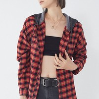BDG Darcy Plaid Flannel Hooded Button-Down Shirt | Urban Outfitters