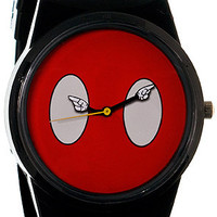 Flud Watches The Mickey Mouse Buttons Pantone Watch in Red Black : Karmaloop.com - Global Concrete Culture