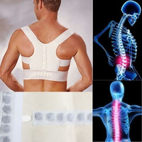 Therapy Back Shoulder Support Brace Belt Posture Corrector Power Magnetic Vest = 1645784324
