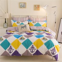 Home Textiles Bedding Sets include Duvet Cover Bed Sheet Pillowcase Queen King Twin Size Comforter Bedding Sets Bed Linen hhs