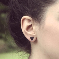 fashion black gold silver 3 style  western triangle stud earrings for women gifts jewelry
