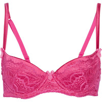 Mimi Holliday by Damaris Bisou Bisou Cherie satin and lace padded bra – 60% at THE OUTNET.COM