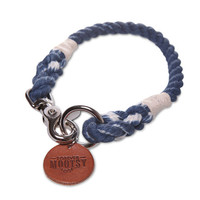 Denim Blue Ombré Rope Dog Collar