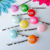 Candy bobby pins gentle hair pins set of 10 Your choice of colors Kids hair accessories