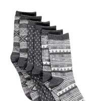Farah Fairisle Patterened Socks 3 Pack