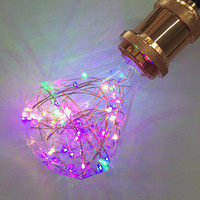 Creative Copper LED Wire Colorful Magical Led Bulb Ball Decorative Lamp Filled With Stars