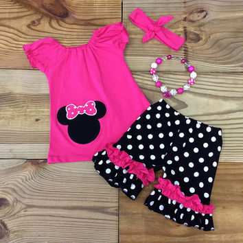The Minnie Mouse Inspired Hot Pink Outfit