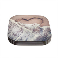 """Nastasia Cook """"Heart in the Sand"""" Beach Coasters (Set of 4)"""