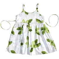 delight green hawaiian girl sundress