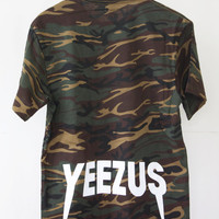 UNISEX Kanye West Yeezus Tour Camo Shirt or Shirt Dress yeezy