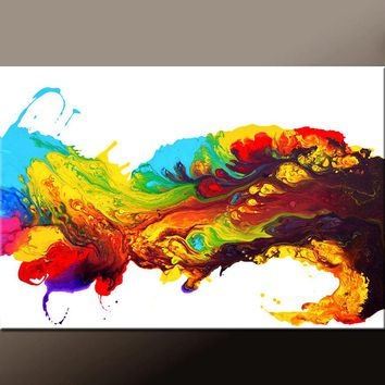 Abstract Canvas Art Prints Large Contemporary Art Print on Wrapped Canvas by Destiny Womack - Wave of Euphoria - dWo