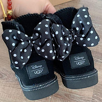 UGG Women male children bow Fashion Wool Snow Boots Shoes