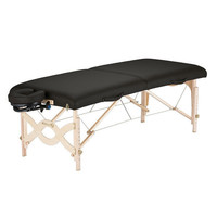 Black NaturSoft Upholstered Portable Massage Table With Headrest & Carry Case