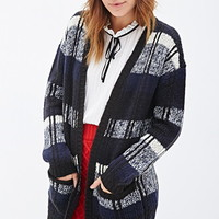 Open-Front Multi-Stripe Cardigan