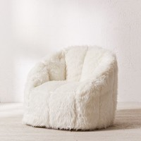 Maggie Faux Fur Shag Chair | Urban Outfitters