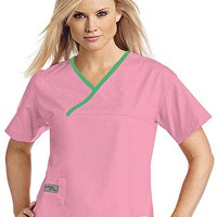 Buy Urbane Womens Classic Single Pocket Crossover Scrub Top for $21.50