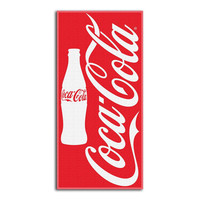 Coca-Cola Red Bottle  Beach Towels (28in x 58in)
