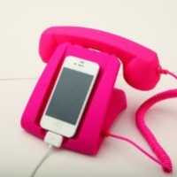 Pink Talk Dock Mobile Device Handset and Charging Cradle: Cell Phones & Accessories