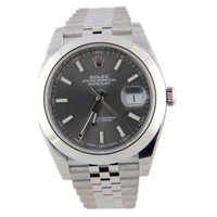 Rolex Datejust 41 126300 Jubilee Steel 41mm Rhodium Grey Index