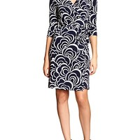 Banana Republic Womens Factory Print Wrap Dress