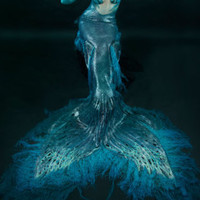Swimable full silicone mermaid tail