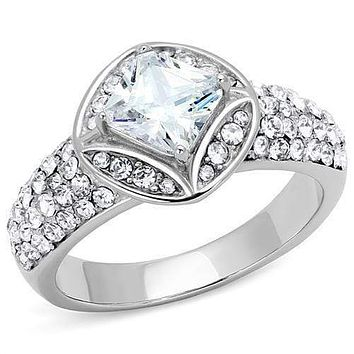 Mens Rings TK3206 Stainless Steel Ring with AAA Grade CZ