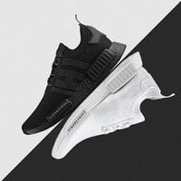 2017 NMD Runner R1 boost Japan Triple black Triple white Man Running Shoes ultra boost Mens Women Sport Sneakers NMD_R1 Primeknit US 5-11