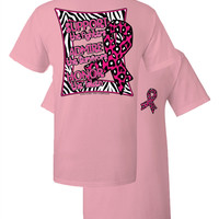Southern Couture Animal Print Breast Cancer Pink Ribbon Honor Support Admire Girlie Bright T Shirt