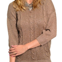 Bown Cable Knitted Sweater