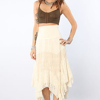 Free People Free People Mixed Lace Skirt in Tea : Karmaloop.com - Global Concrete Culture