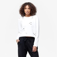 Sam Edelman Cropped Sweatshirt With Holes - Women's | Six 02