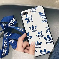 Adidas X Kenzo Trending Women Men Stylish Phone Case For iPhone X iPhone 8 plus iphone 6 6s 6plus 7s plus White I-OF-SJK