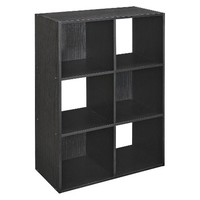 ClosetMaid 6-Cube Organizer - Black Ash