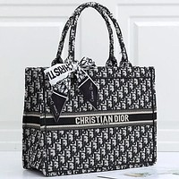 DIOR new product trend printing letter ladies large-capacity shopping handbag shoulder bag