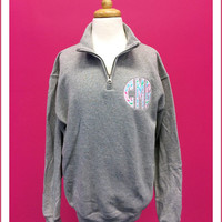 Lilly Pulitzer Monogram Youth Size Quarter Zip