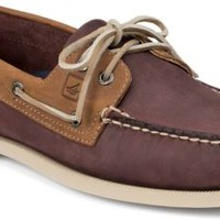Sperry Top-Sider Authentic Original Two-Tone 2-Eye Boat Shoe Burgundy/Tan, Size 13M  Men's Shoes