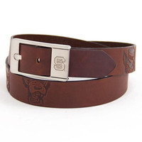 North Carolina State Wolfpack NCAA Brandish Leather Belt Size 40
