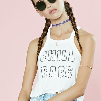 Chill Graphic Crop Top