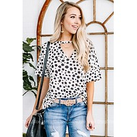 Know Who I Am Dalmation Printed Top