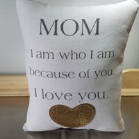 Mother birthday gift best mom pillow gift for mom throw pillow