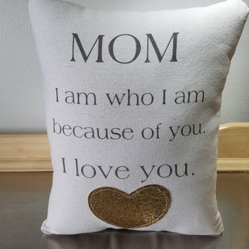 Mom quote pillow mother birthday gift throw pillow cotton pillows