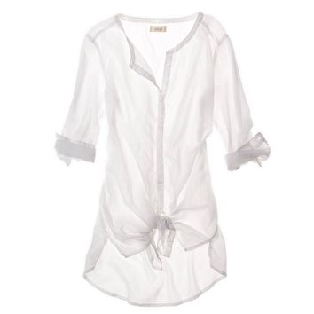 Aerie Buttoned Cover Up   Aerie for American Eagle