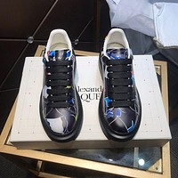 Alexander McQUEEN Men Fashion Boots fashionable Casual leather Breathable Sneakers Running Shoes-15