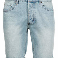 Light Wash Skinny Denim Shorts - Men's Shorts - Clothing