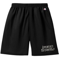 Avenged Sevenfold Men's  AVS Why Logo Gym Shorts Gym Shorts Black
