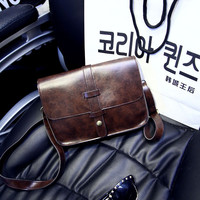 Korean Wine Red Vintage One Shoulder Bags [6582404551]